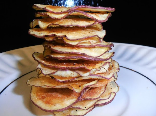 Microwave Black Truffle Oil Tater Chips Recipe