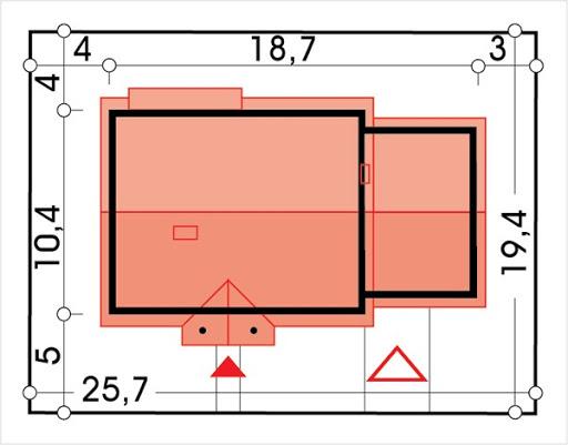 Sielanka 2 100 MDM wersja A z podwójnym garażem - Sytuacja