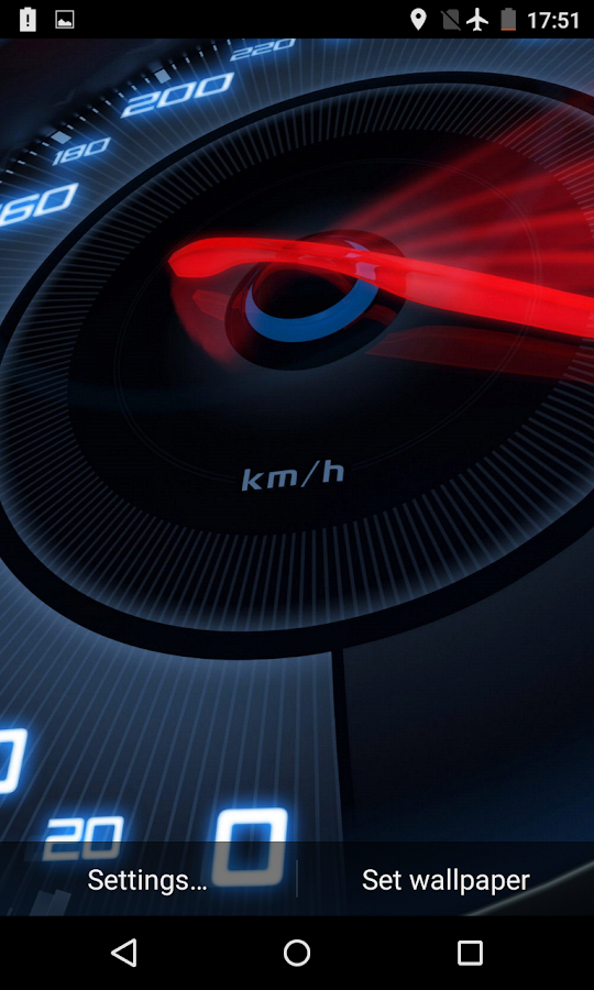 Speedometer live wallpaper 3d android apps on google play for 3d home wallpaper for android