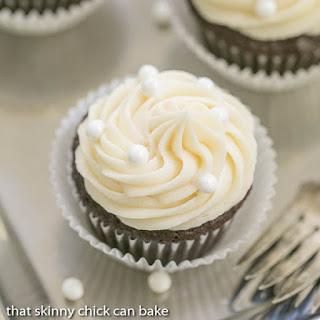 Vanilla Buttercream Topped Cocoa Cupcakes