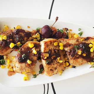 Pork Cutlets with Red Wine Cherry Sauce Recipe