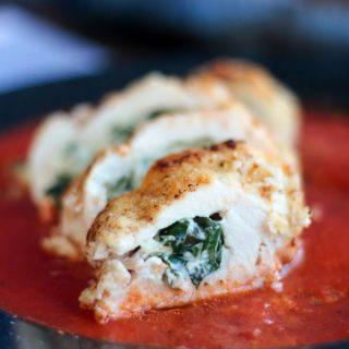 Cheesy Spinach Stuffed Chicken Breast - Keto Recipe