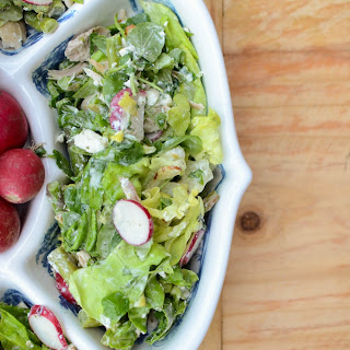 Asparagus and Chicken Salad with Buttermilk Herb Dressing