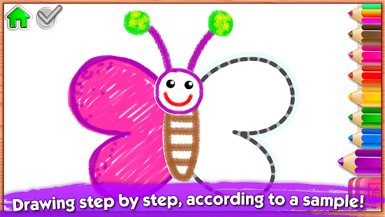 123 Draw🎨 Toddler counting for kids Drawing games - Android Apps ...