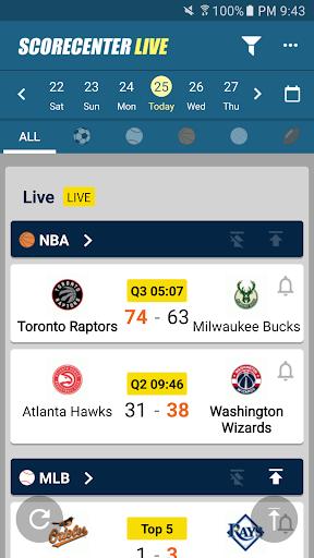 ScoreCenter Live : All sports 6.0.9 screenshots 1