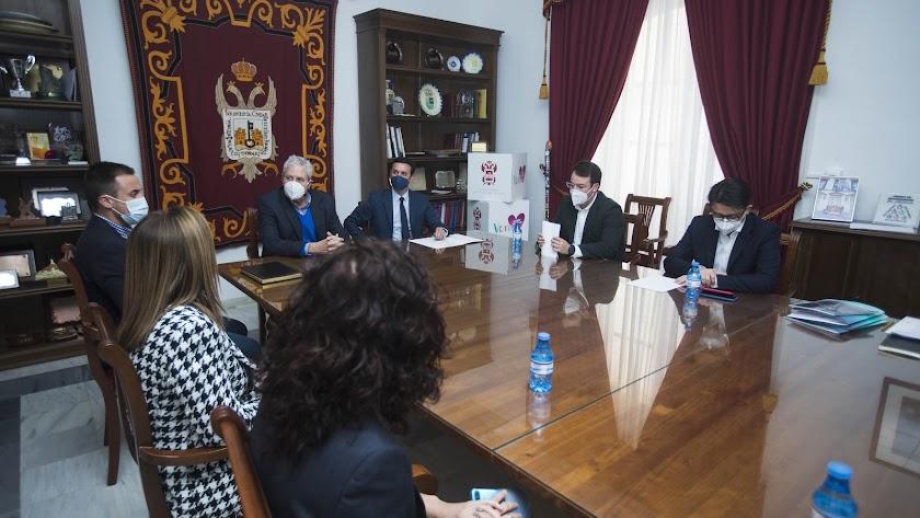 La reunión de trabajo mantenida entre Diputación y Ayuntamiento.