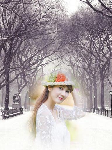 降雪フォトフレーム