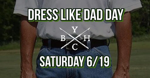 Dress Like Dad Day Father's Day event at Yacht Club Beverage House in Youngsville