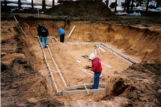 Photo: Forming for the footings