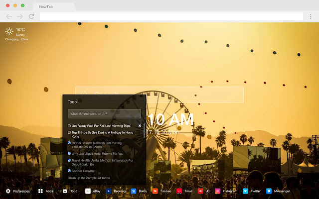 coachella Pop Festival HD New Tabs Theme