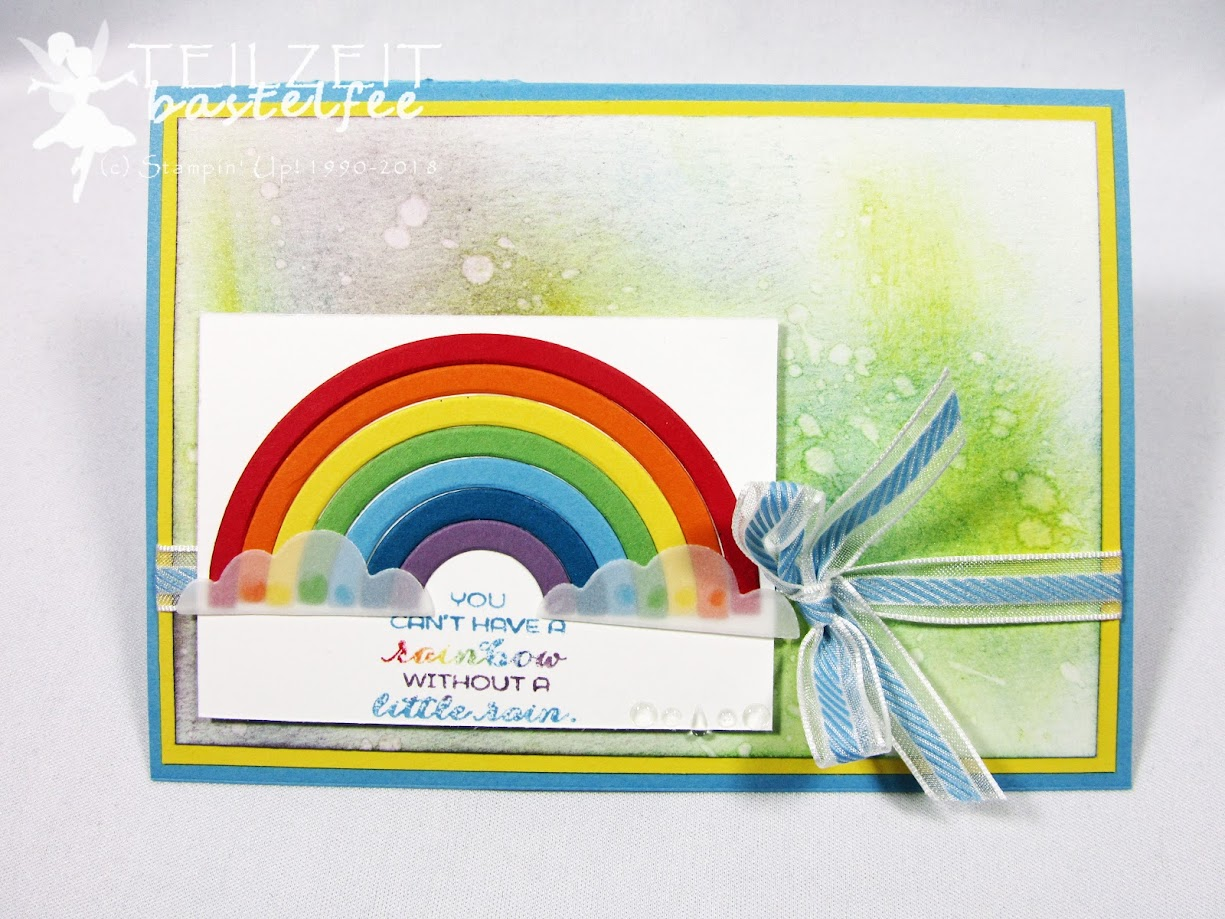 Stampin' Up! - IN{K}SPIRE_me Challenge #344, Sketch Challenge, Regenbogen, Sunshine & Rainbows, Framelits Rainbows