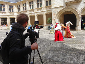 Photo: Prise de vue dans la cour du Palais Jacques Coeur