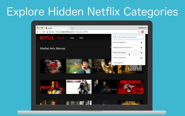 Netflix Categories Screenshot