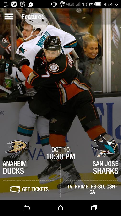 Anaheim Ducks Official App- screenshot