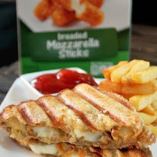 Mozzarella Sticks Grilled Cheese Sandwich.