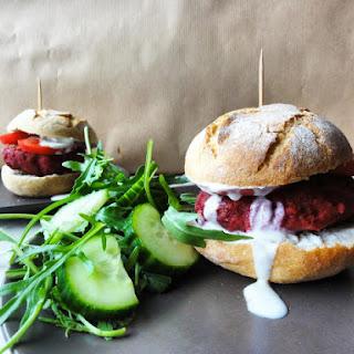 Vegan Beetroot Burgers.
