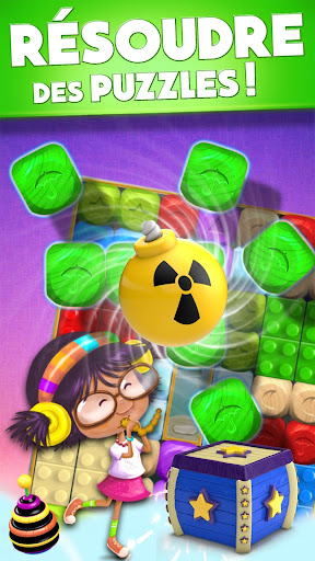 Toy Box Party Blast Time - Match Crush Toon Cubes  captures d'écran 2