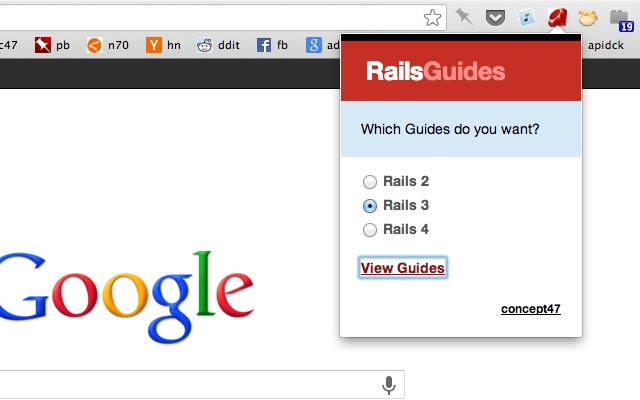 Rails 2/3 Guides redirect