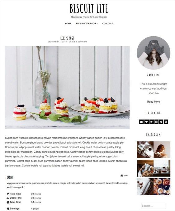Biscuit Lite Free WordPress Theme