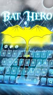 Bat Hero Keyboard Theme - náhled