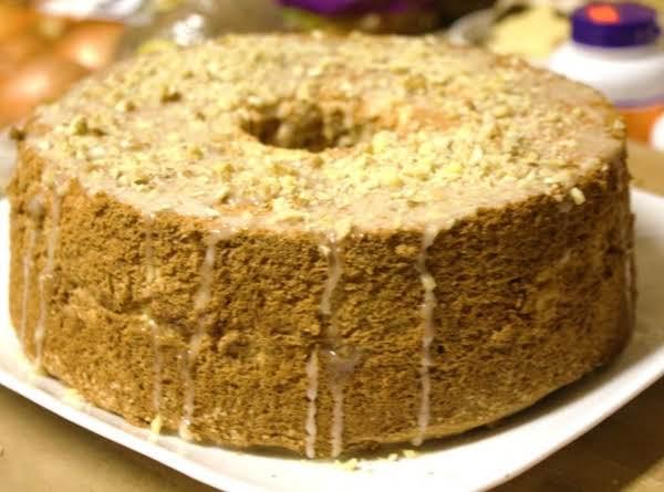 Maple Nut Angel Food Cake