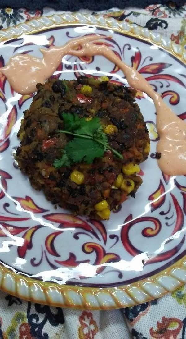 Southwestern Spicy Black Bean Burger Recipe