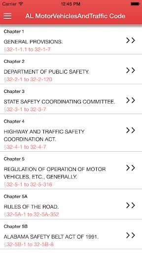 Alabama Motor Vehicles Traffic