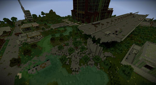 Zombie Apocalypse map for MCPE. New maps and mods screenshots 3