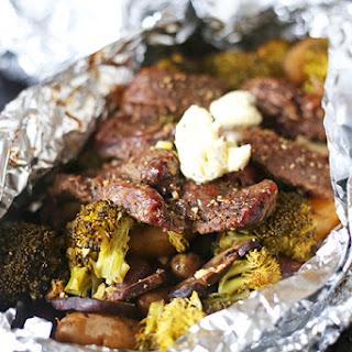 Steak and Potato Foil Pack Dinner.
