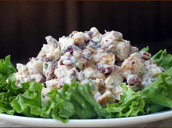 CHICKEN SALADMake sure everything is cut into bite size. Mix well and chill for...