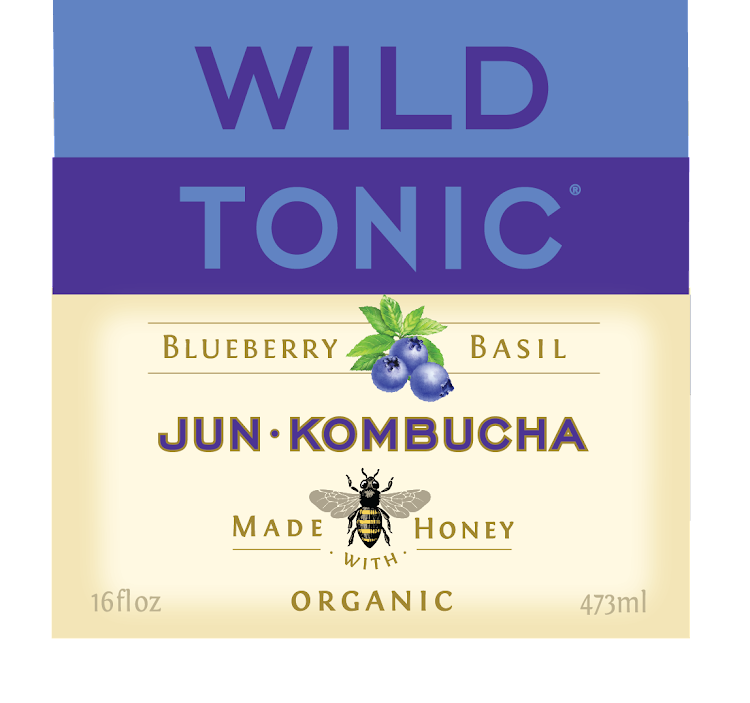 Logo of Wild Tonic Blueberry Basil Jun Kombucha