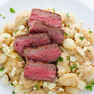 Steak and Blue Cheese Alfredo Gnocchi.