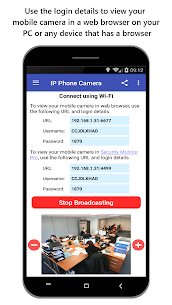 IP Phone Camera – View Camera on PC 5.0 [Mod + APK] Android 2
