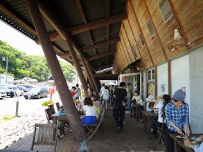 Photo: 道の駅で昼食。