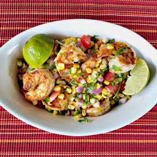 Spicy Grilled Shrimp with Corn Salsa