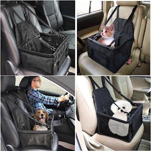 Cos pentru transportat catei si pisici in masina, Negru