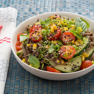 Summer Soba Salad with Corn and Soy-Mirin Dressing