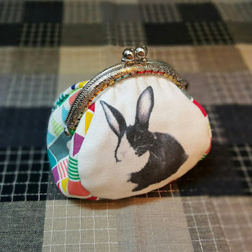 Black and White Bunny Coin purse 散銀包