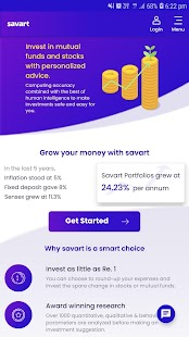 Mutual Fund & Stock Investment App - Savart Capture d'écran