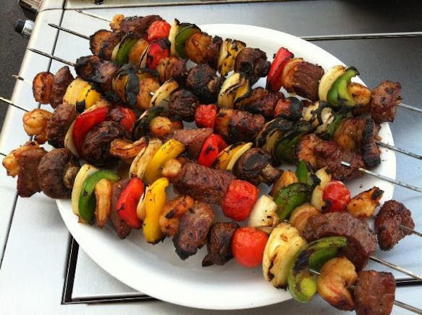 Teriyaki Beef And Shrimp Kabobs Recipe