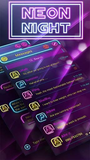 FREE GO SMS NEON LIGHT THEME