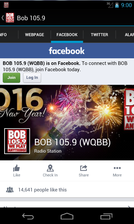 Bob 105.9- screenshot