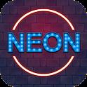 Neon Love Party Keyboard Theme icon