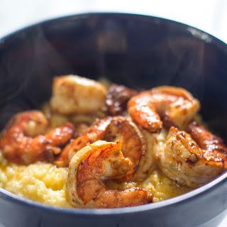 Parmesan Polenta With Chipotle Shrimp.