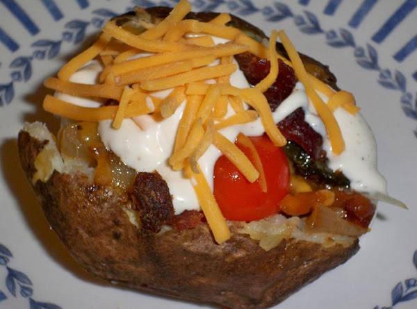 Bacon Ranch Baked Potatoes Recipe