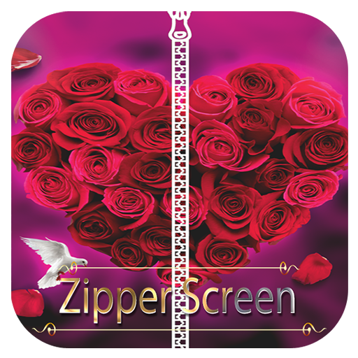 Love Zipper Screen Lock