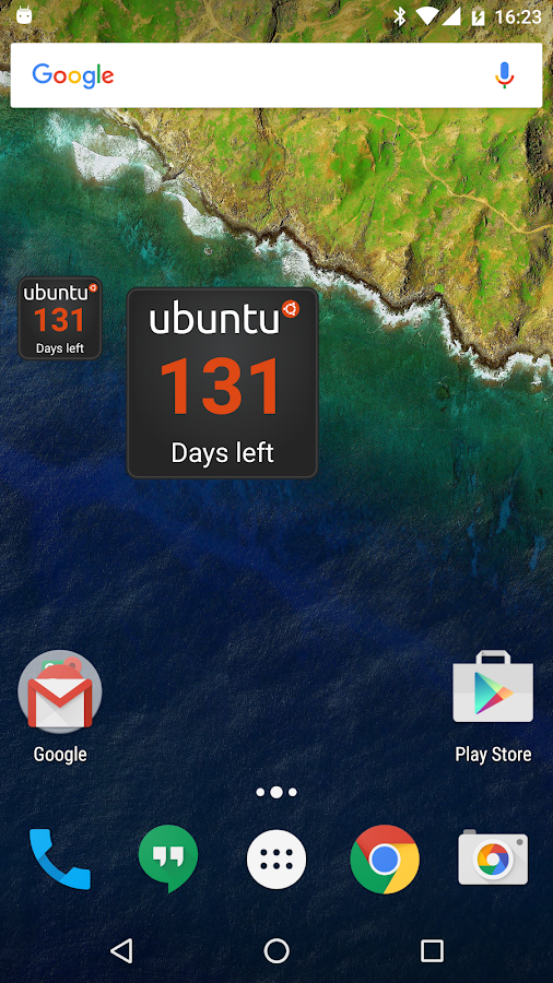 Ubuntu Countdown Widget- screenshot
