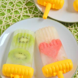 Honey Limeade Popsicles.