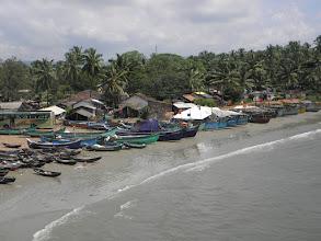 Photo: Fishing boats by Murudeshwara Temple