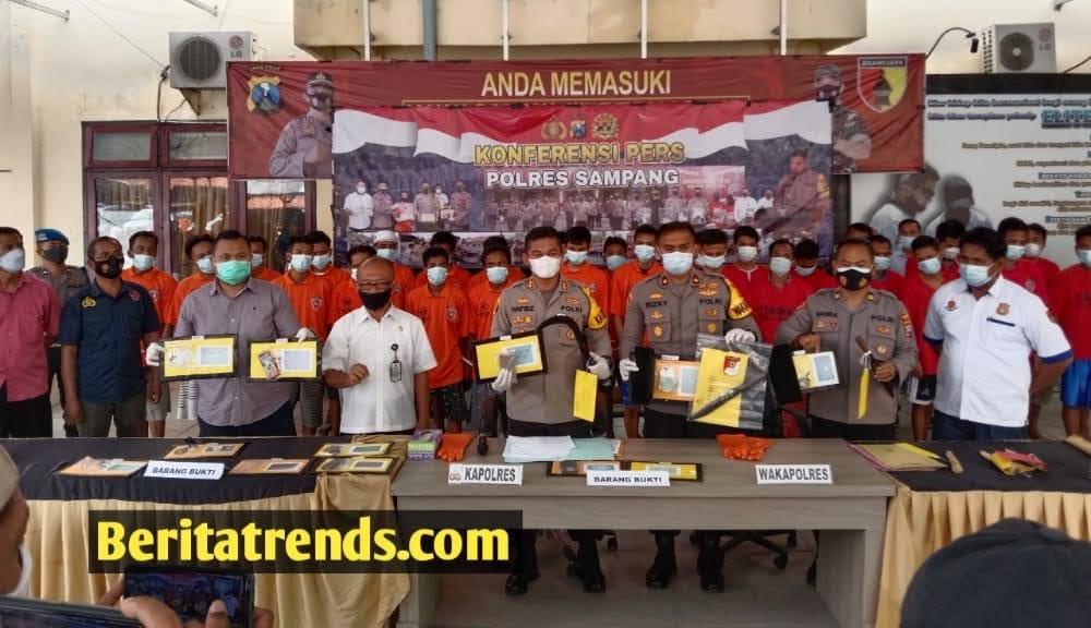 Polres Sampang Ringkus 33 Tersangka Hasil Operasi